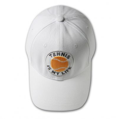 TENNIS IS MY LIFE Baseball Cap - White