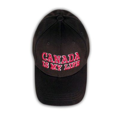 CANADA IS MY LIFE Baseball Cap - Black