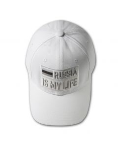RUSSIA IS MY LIFE Baseball Cap - Monochrome White