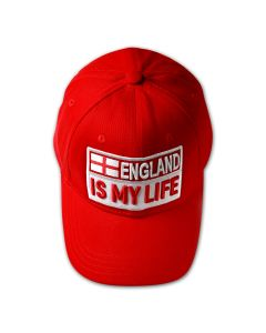 ENGLAND IS MY LIFE Baseball Cap - Red